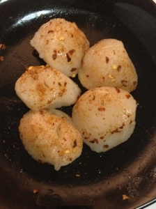 seasoned scallops
